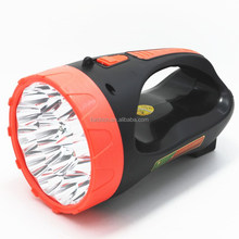 Long-range searchlight 18 led camping lamp plastic rechargeable