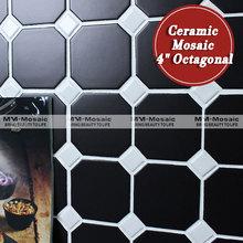 """En stock 4 """" octagonal mosaico de azulejos de cerámica para cocina"""
