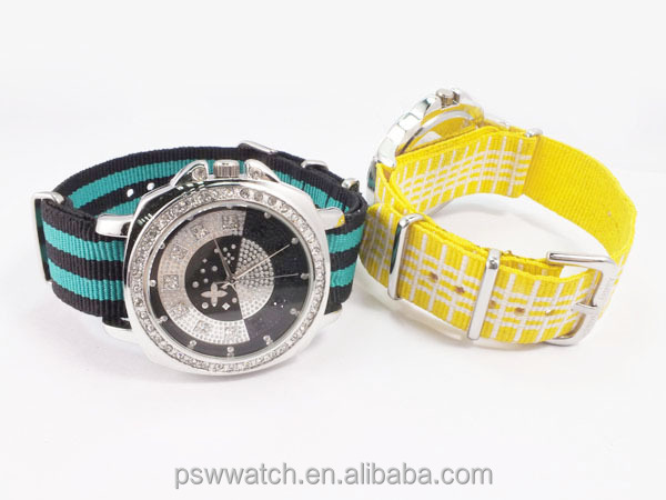 High quality new style nylon strap custom watch