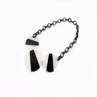 Wholesale Imitation Jewellery Button Design Chain Necklace Accessories for Women