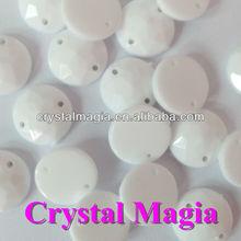 high quality beautiful white color acrylic rhinestones wholesale 10mm