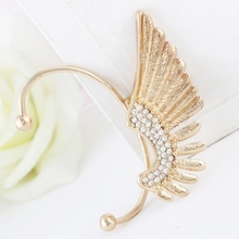 Bohemia Style Exaggerated Vintage Wing With Crystal Cuff Earrings Women Ear Jewelry Accessories
