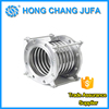 Stainless steel reinforced corrugated bellows type expansion joints