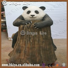 2015 Beautiful Fiberglass Panda Zoo Animal Model Indoor or Outdoor Playground