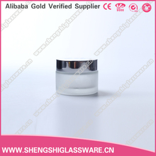 30ml Recycled glass cosmetic packaging/empty glass jar for face cream