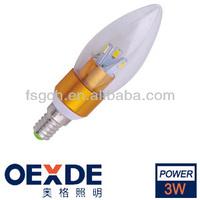 golden/ sliver color holder Led Bulb living room ceiling light led alumium candle bulb light