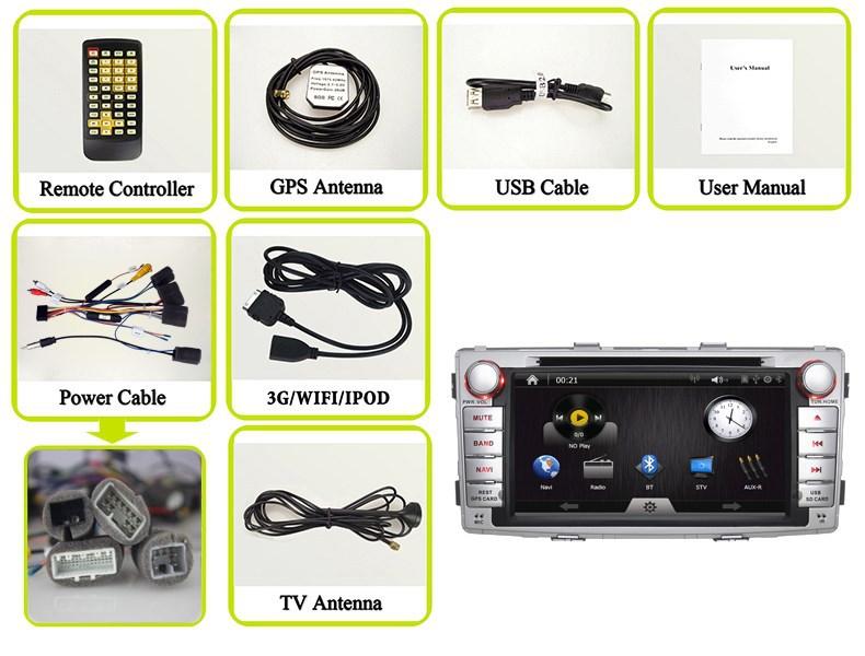 Автомобильная видеокамера JOYOUS : 6.95' 2 Din DVD GPS Hilux toyota, BT, RDS, ATV, WIFI /3G IPOD