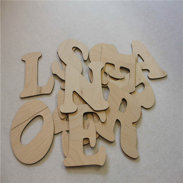 Atacado letra do alfabeto de madeira inacabadas brinquedos educativos para presente artesanato e decoração