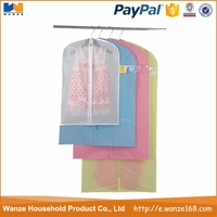 Clear PVC Dance Costume Garment Bag With Pockets