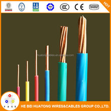 600V Copper Corepvc cover awg electrical wire thw /tw Electric cable with UL certificate