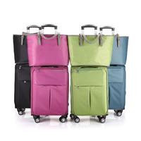 2015 new style nylon spinner luggage & carry on luggage & travel luggage