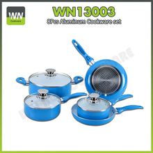 Very popular colorful forged aluminum fry pan sets aluminum alloy sauce pan sets