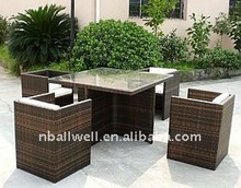 HIGH QUALITY GARDEN TABLE CHAIRS SALE RATTAN FURNITURE AWRF5006