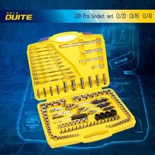 """120pcs socket set 1/4""""&1/2""""& 3/8"""" professional auto repair tool set box"""