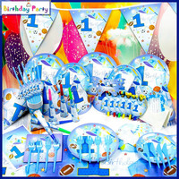hot selling 1st boy wholesale birthday theme party supplies for kids