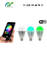 2015 best selling WiFi LED bulb 2.4G Touch Screen Remote Control