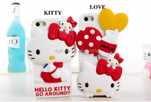 factory price 3d printer hello kitty patten silicon case for ipad with cartoon packing