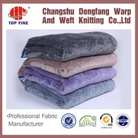 China suppiler cheap 100% polyester cationic flannel fabric