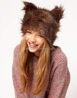 Fantanstic New Winter Faux Fur Animal Hats Fashion Rabbit Ears Women's Cap Hat