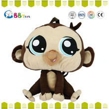 In 2015 the most satisfying plush product,Big eyes backpack stuffed monkey