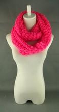 2015 New Knitting Pattern Acrylic Women's Loop Scarf