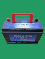 lead acid car battery 12V 60Ah battery for electric start generator