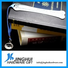 custom modern silver metal bookmark
