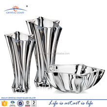 High quality recycled unique star shape crackle glass flower vase factory for centerpieces