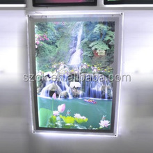 New products acrylic wall hanging led lighted photo frame