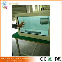 see thru advertising transparent show box retail display cabinets
