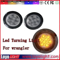 2015 New Accessories for jeep wrangler ,3.5 inch front grill turning signals Led turning light for jeep wrangler