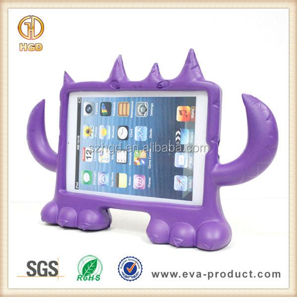 Evaフォーム子供の安全な小さな怪物ショックプルーフipad用ミニカバー/例