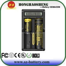 2015 lastest Nitecore UM20 portable dual bay/slot charger usb output intellicharger UM20 battery charger for li-ion