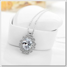 Alibaba express 18k gold plated silver pendant chain necklace jewelry 2015 fashion gold necklace