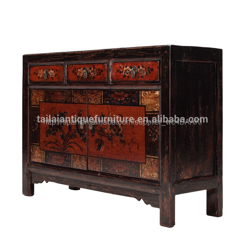 Muebles antiguos de madera para comedor aparador r stico for Muebles de madera para comedor