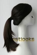 Mongolian Jewish Full Ponytail Wigs Kippah Remy Wigs