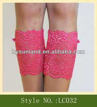 Trending promotional girl lace boot socksBeautiful Lace boot cuff and mitten