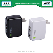 18W AC Adapter With Three output ports gualcomm quick charger 2.0 MFI for apple MPA818QF