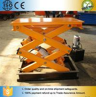 The best utility cargo indoor scissor lift table/hydraulic stationary scissor lift