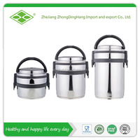 Round shape stainless steel airtight food container