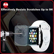 Wholesale Premium 0.26mm HD Ultra Clear 2.5D 9H Tempered Glass Screen Protector for Iwatch Apple Watch