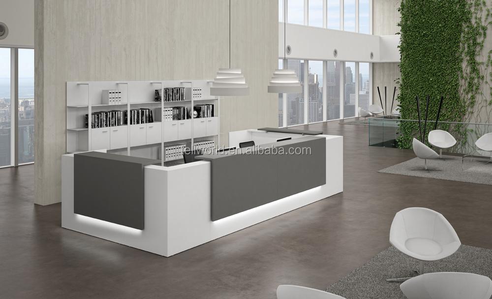 Mobiliário de escritório moderno mesa da frente, design simples ...