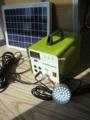 mini sistema de iluminación solar