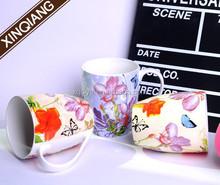 11oz manufacturers of white porcelain creative ceramic mug handles