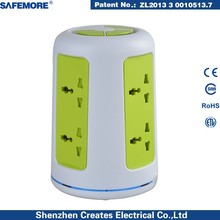 6 Outlets Power strip Extension Socket with 2 USB Charging Ports For Brazil