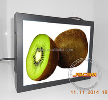 Wall mounted 15inch full HD media player digital display support motion sensor auto copy 1080p video for advertising