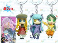 Wholesale Gifts New fashion design hot sale toy Rozen Maiden Anime Doll pendant Keychain A set of 3