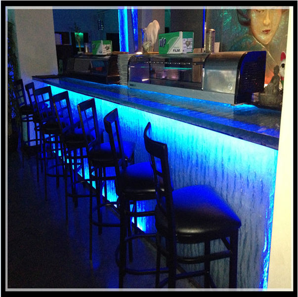 Luxury led lit glass countertops sale night club bar for Lit table de nuit integree