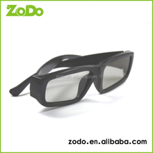 plastic circular polarized 3d glasses for 3D TV or real 3d cinema