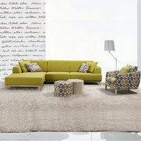 China gold manufacturer High-ranking big round shape fabric sofa